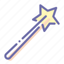 magician, stick, wand, wizard icon
