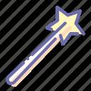 magician, stick, wand, wizard