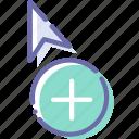 add, copy, cursor, move icon