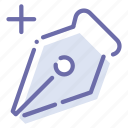 add, anchor, ink, pen icon