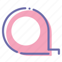 measuring, rule, tape, tool icon