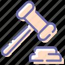 auction, hammer, judge, sale