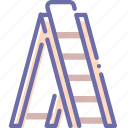 ladder, stairs, stepladder, tools icon