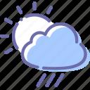 clouds, rain, rainy, sun icon