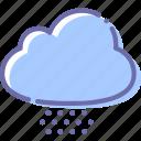 cloud, cloudy, hail, snow
