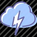 cloud, cloudy, lightning, thunder