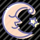 crescent, face, fairy, moon