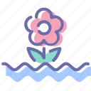 flood, flower, water, weather icon