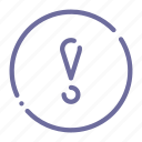 attention, circle, exclamation, warning icon