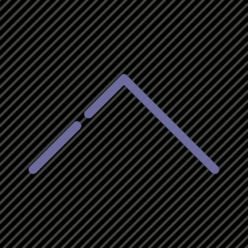arrow, previous, top, up icon