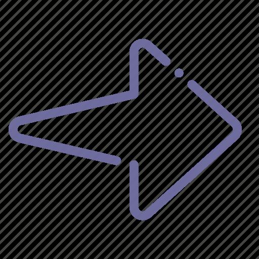 arrow, next, right, sign icon