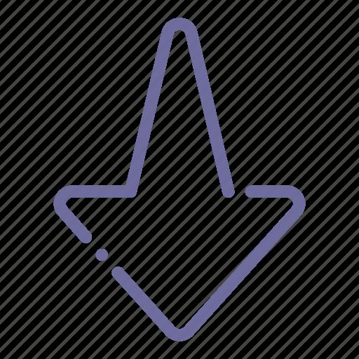 arrow, bottom, down, sign icon