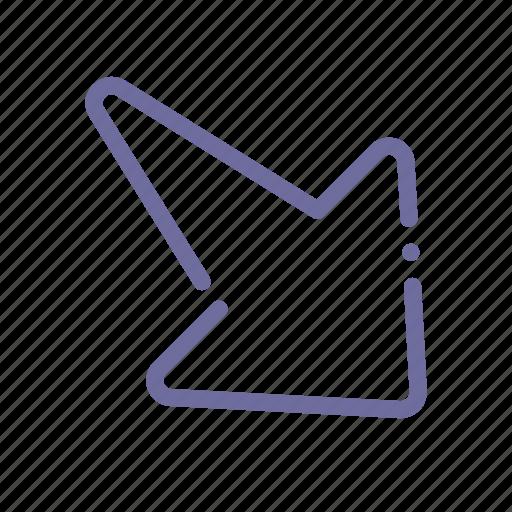 arrow, diagonal, right, up icon