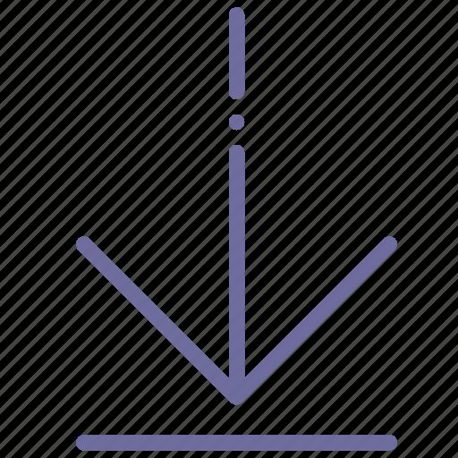 arrow, down, end, finish icon