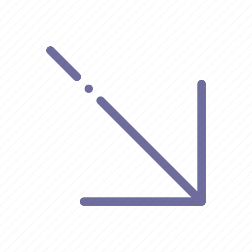 arrow, diagonal, right, up icon