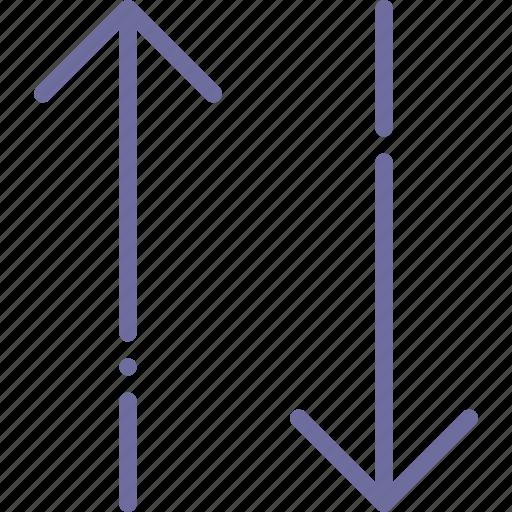 arrow, change, down, upside icon