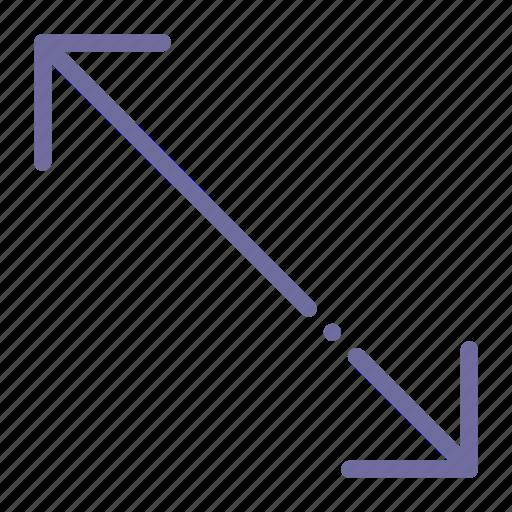 arrow, diagonal, scale, transform icon