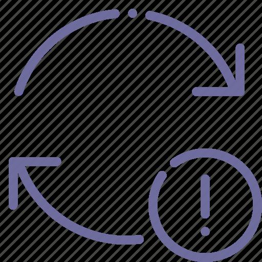 arrow, attention, refresh, update icon