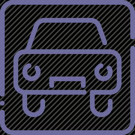 car, park, parking, sign icon