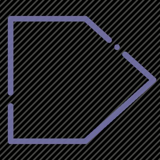 banner, flag, label, sign icon