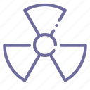 danger, mass, radiation, weapon icon