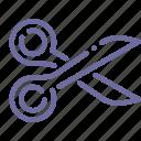 crop, cut, scissors, tool icon