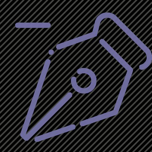 anchor, pen, remove, tool icon