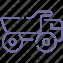 coal, industrial, mine, truck icon