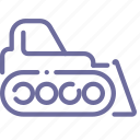 bulldozer, caterpillar, dozer, industrial icon