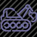 caterpillar, construction, digger, excavator icon