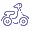 moped, motorbike, scooter, vehicle icon
