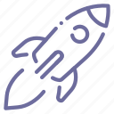 launch, rocket, ship, space icon