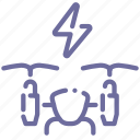 airdrone, drone, power, quadcopter icon