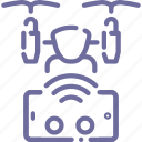 control, drone, quadcopter, remote icon