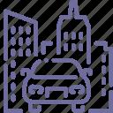 car, city, transport, urban icon