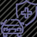 car, insurance, shield, transport icon