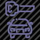 car, key, locked, transport icon