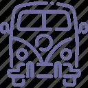 car, combi, hippy, minivan icon