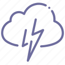 cloud, cloudy, lightning, thunder icon