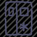 fridge, kitchen, sidebyside icon