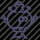 russia, samovar icon