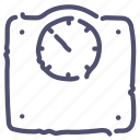 floor, scales, weight icon
