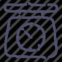 kitchen, scales icon