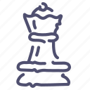chess, queen, strategy icon