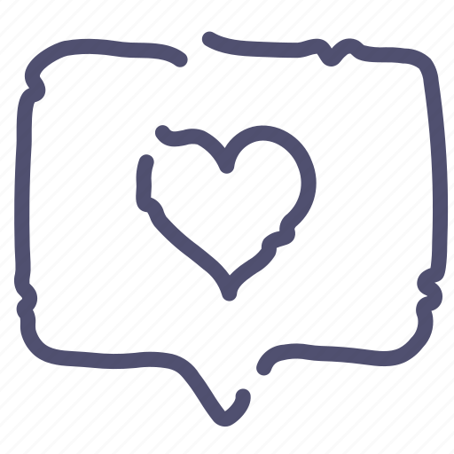 chat, favorite, heart, love, message icon