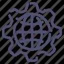 gear, internet, preferences icon