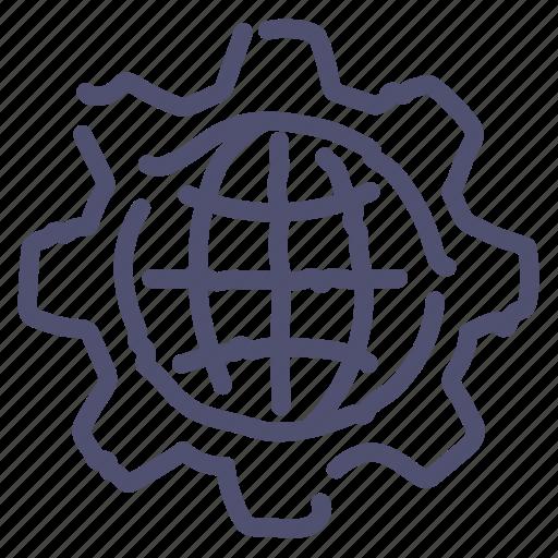 globe, internet, network, rule, web icon