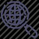 find, network, search, seo, web icon