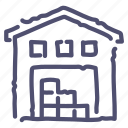 depot, storage, storehouse, warehouse icon
