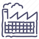 factory, industry, manufacturer, refinery icon